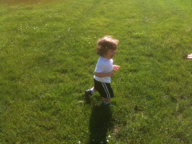 Adam runs