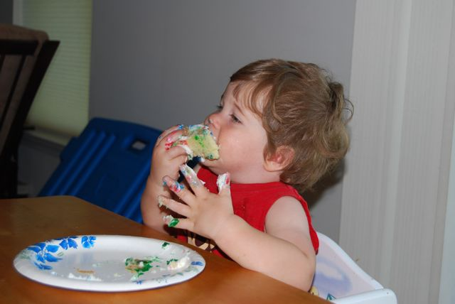 Adam eats cake