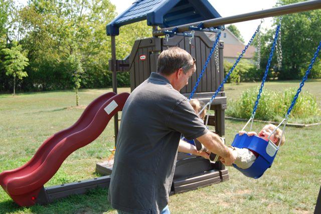 Daddy pulls Alex