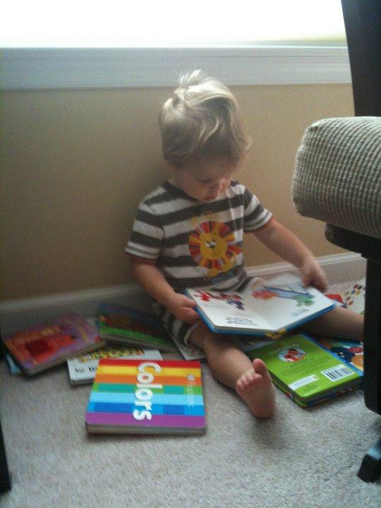 Alex reads