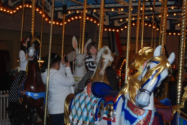 Alex and Adam on the Carousel