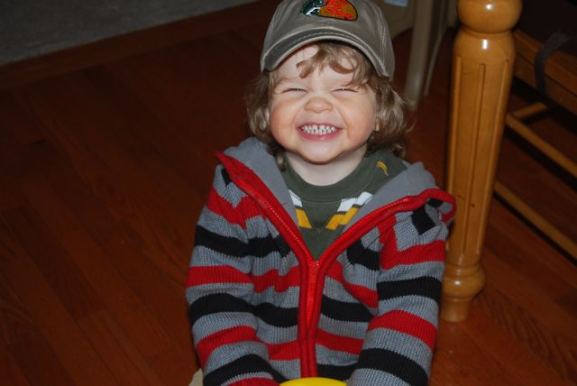 Alex and Bass Pro Hat