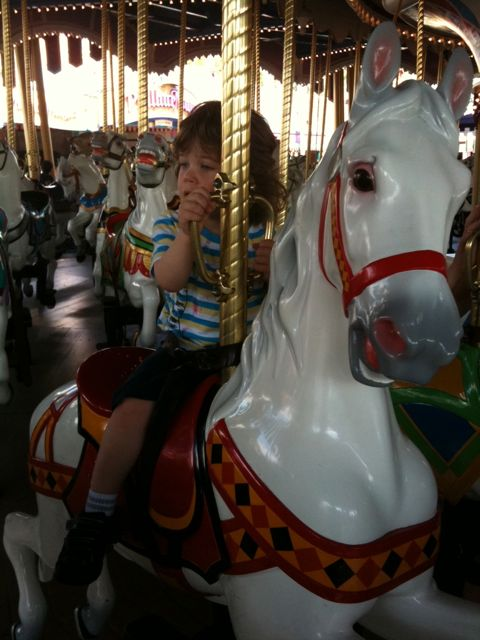 Adam on the Carousel