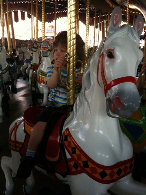 Adam on the Carousel