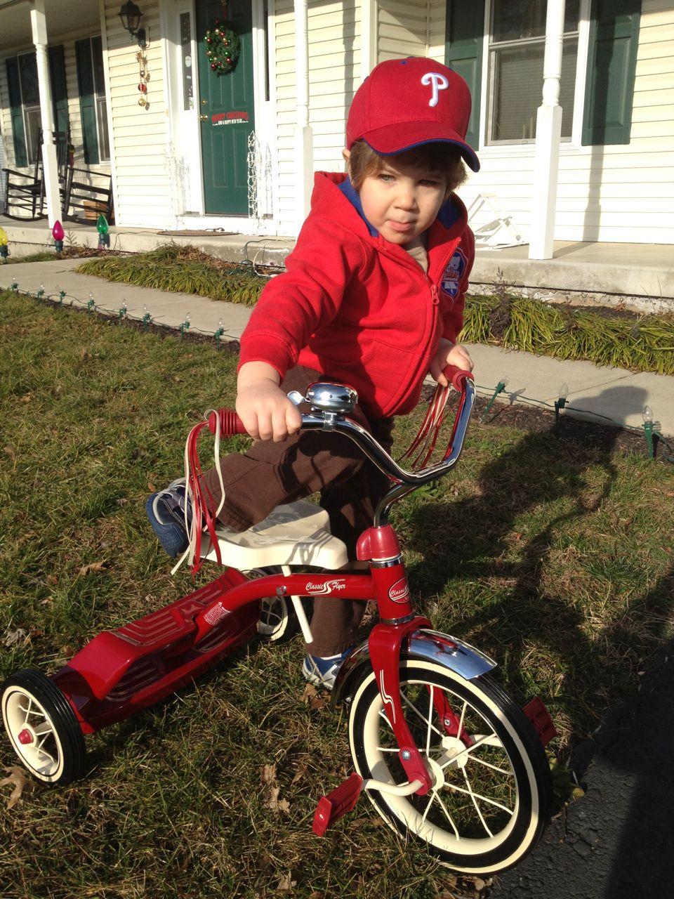 Adam on the bike