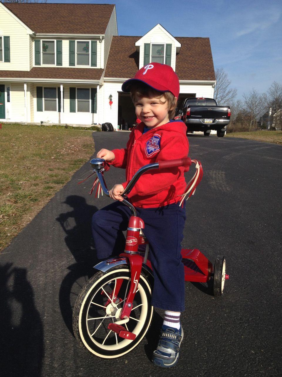 Alex on the bike