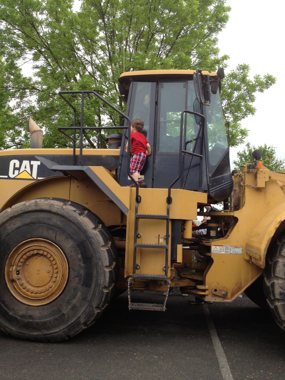 Adam on the bulldozer