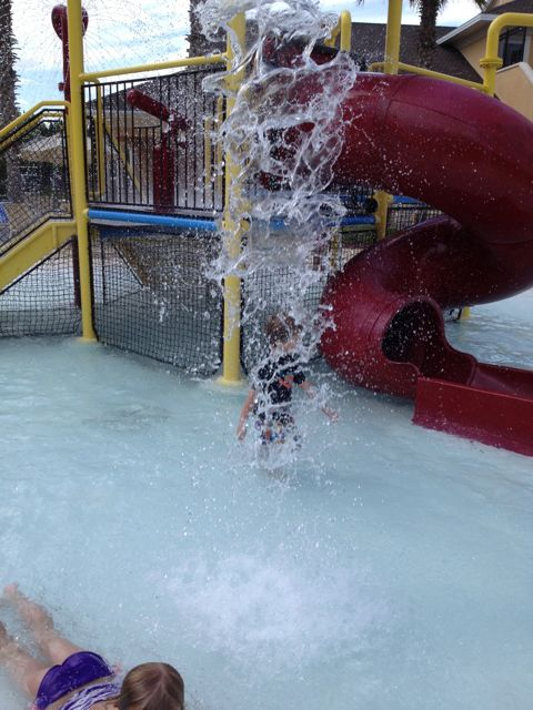 Alex makes a splash