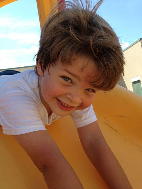 Alex on the slide
