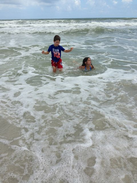 Adam and Kam hit the waves