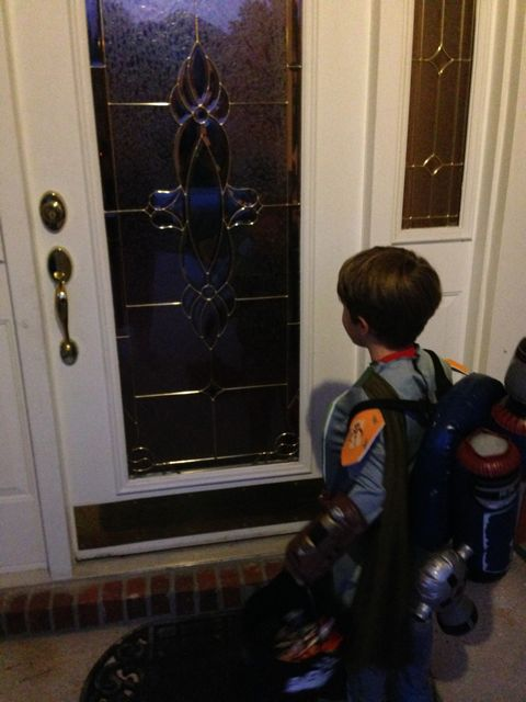 Adam waits for candy