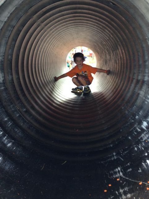 Alex in the tube