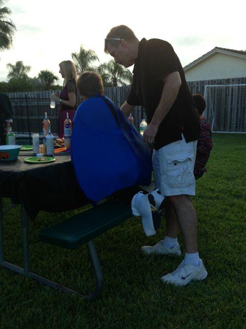 Dad helps Alex