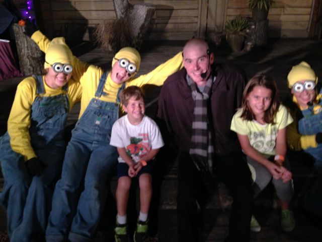 The kids with the Despicable Boo cast