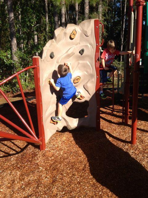 Alex climbs