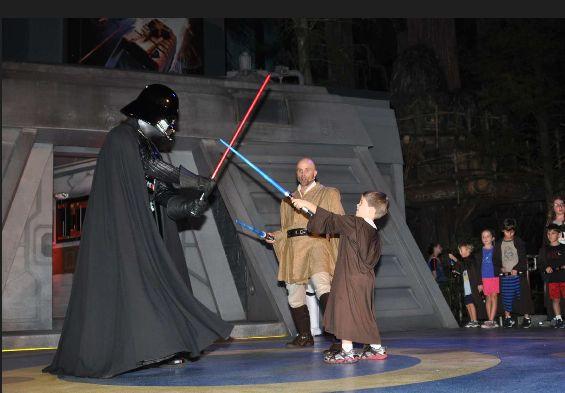 Padawan Adam meets Darth Vader