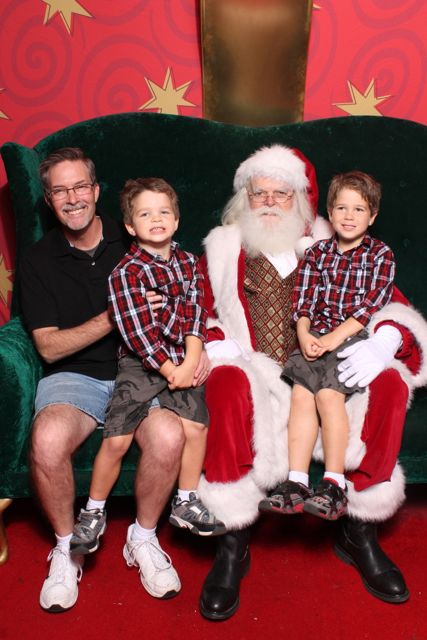 Santa, Daddy, and the Boys