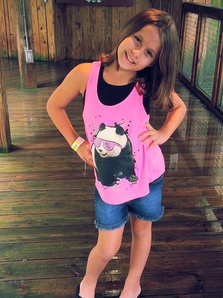 Kam wears Panda
