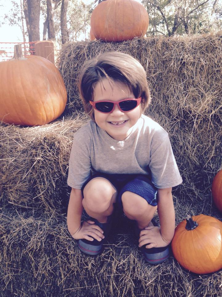 Alex at the Pumpkin Patch