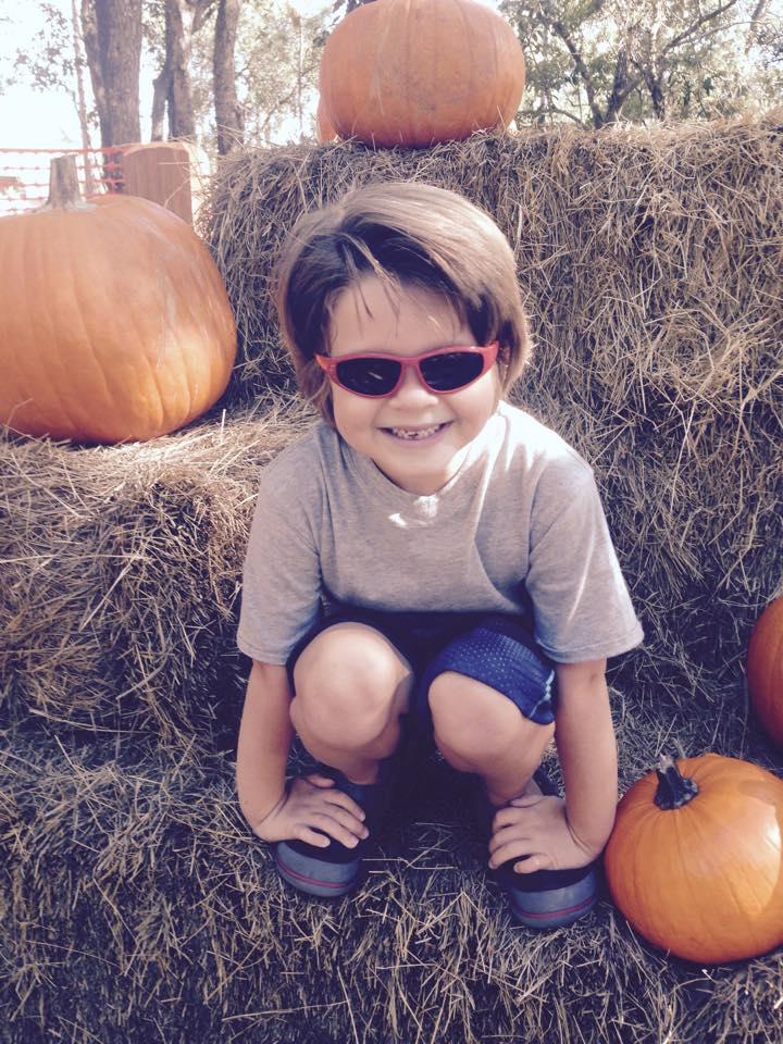 Alex at the Pumpkin Patch