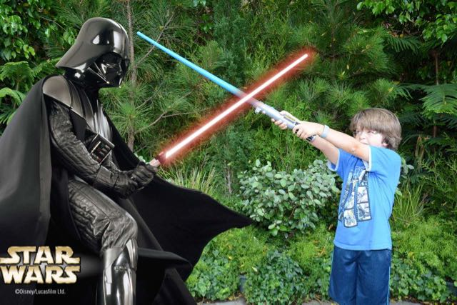 Adam fights Darth Vader