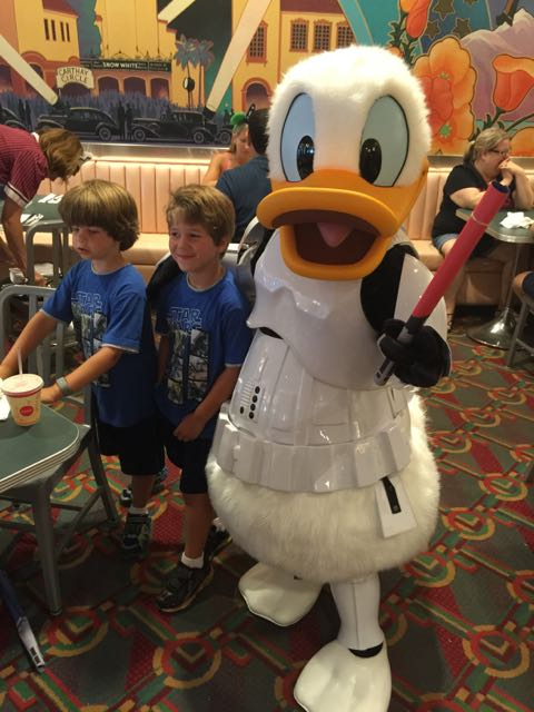 The boys with Donald the Stormtrooper