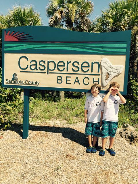 The boys at Caspersen Beach