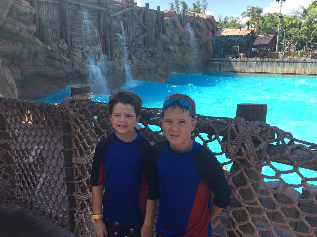 Boys at Typhoon Lagoon