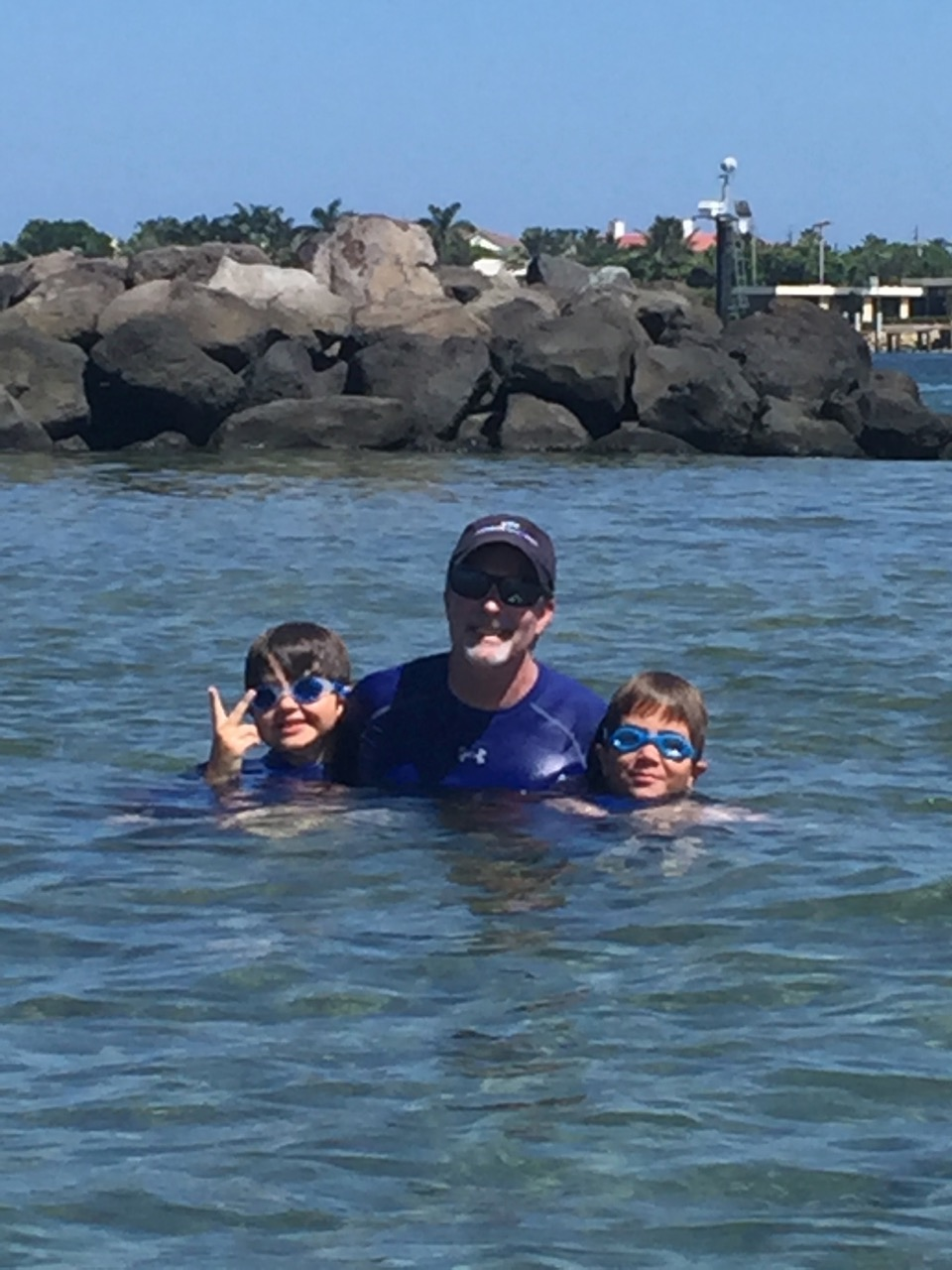 Me and the boys on Peanut Island