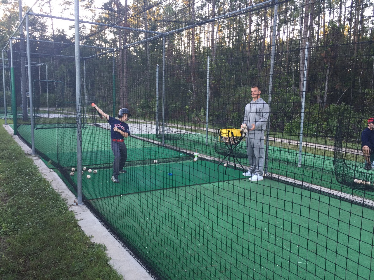 Batting with A.J. Kubala