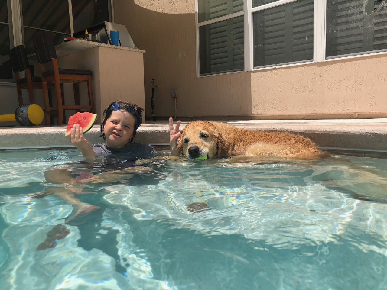 Lounging in the Pool